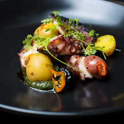 Food Photography - slow cooked octopus